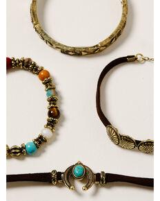 Shyanne Women's Golden Dreamcatcher Concho Bracelet Set, Gold, hi-res