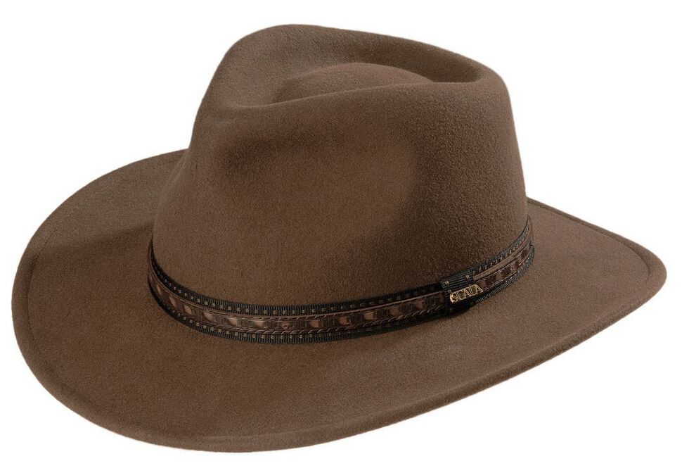 a395a951aa3 Scala Crushable Wool Outback Hat