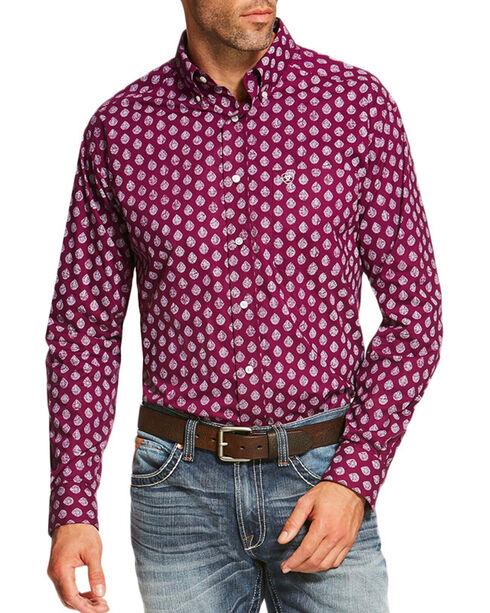 Ariat Men's Purple Palomares Long Sleeve Print Shirt , Purple, hi-res