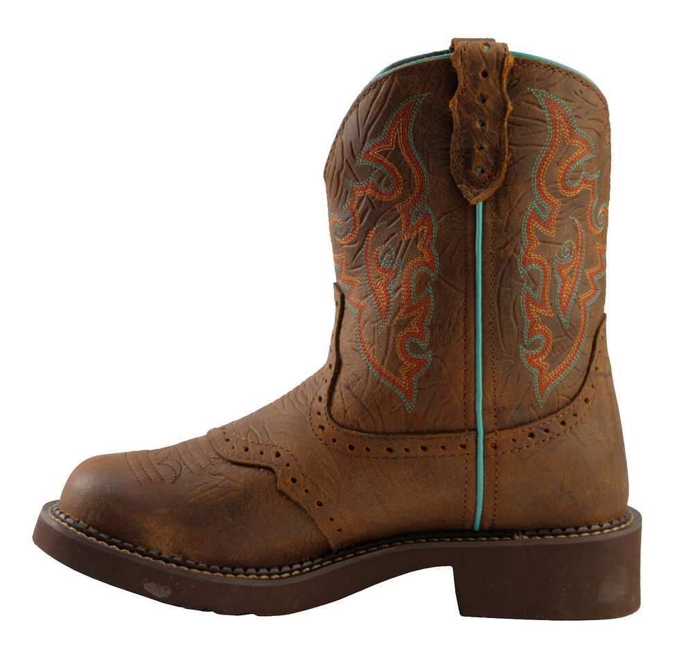Justin Gypsy Women's Gemma Brown Piper Cowgirl Boots - Round Toe, Brown, hi-res