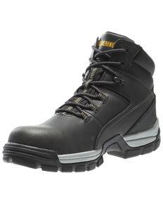 Wolverine Men's Tarmac Waterproof Work Boots - Composite Toe, Black, hi-res