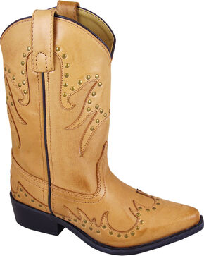 Smoky Mountain Girls' Dolly Western Boots - Snip Toe , Brown, hi-res