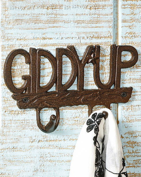 Giftcraft Cast Iron Giddy Up Wall Hook , No Color, hi-res