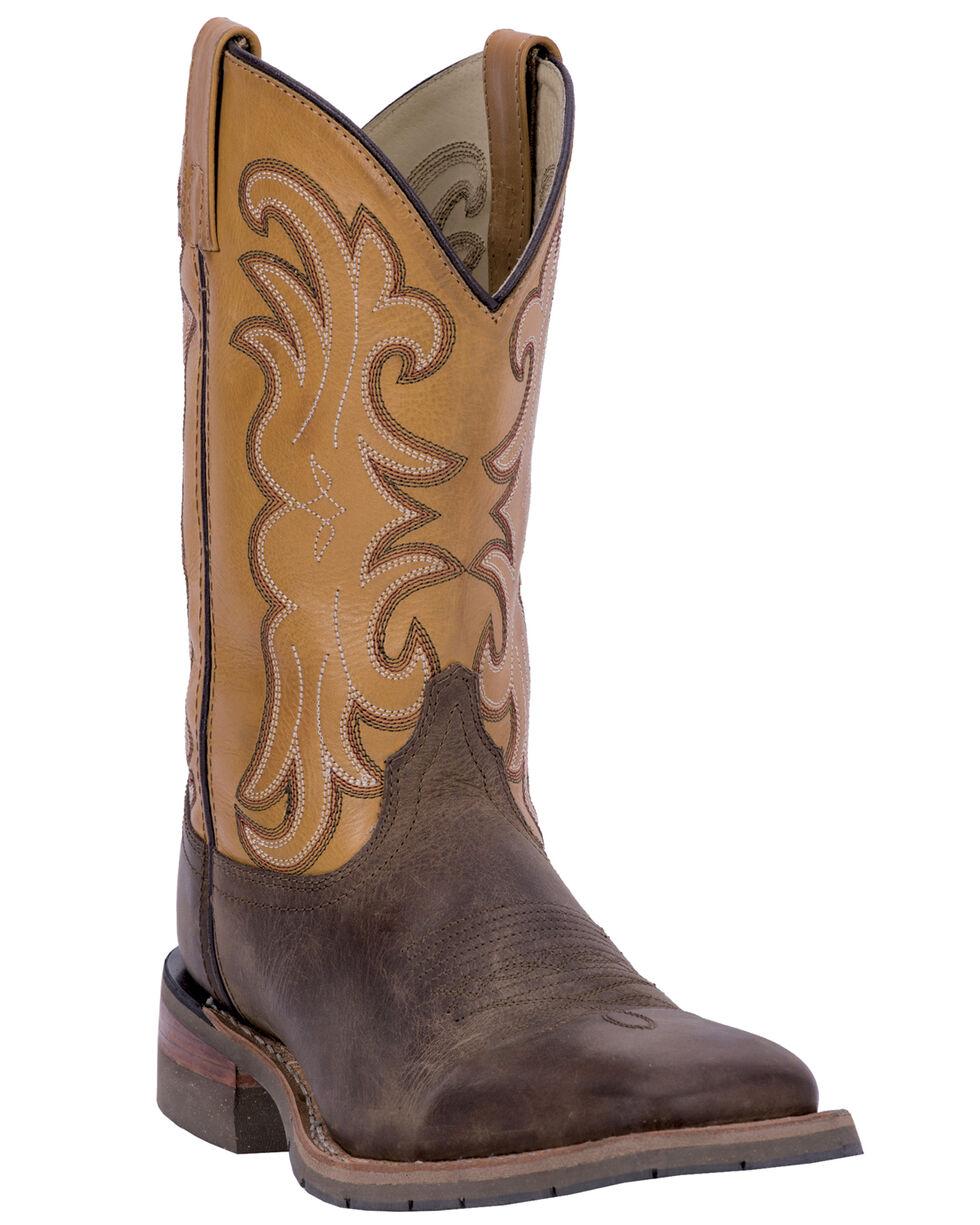 Dan Post Ferrier Pull-On Work Boots - Square Toe , Tan, hi-res