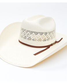 American Hat Co. Chocolate Band Rancher Western Straw Hat , No Color, hi-res