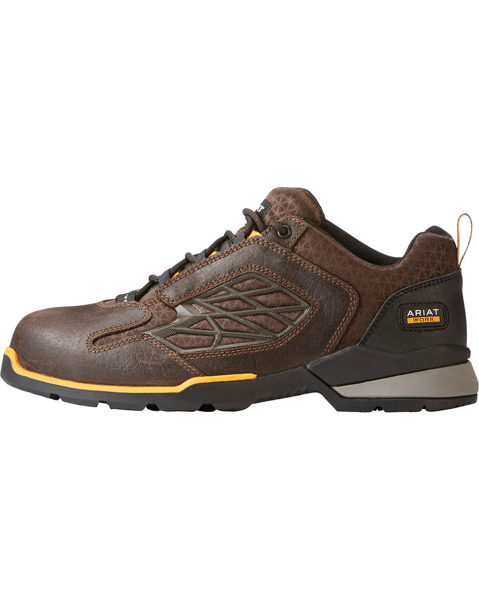 Ariat Men's Chocolate Rebar Flex Work Shoes - Composite Toe , Chocolate, hi-res