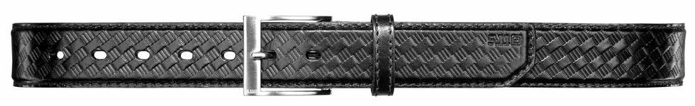 5.11 Tactical Leather Basket Weave Belt (2XL-4XL), Black, hi-res