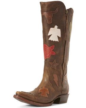 Ariat Women's Arroyo Tobacco Western Boots - Snip Toe, Brown, hi-res