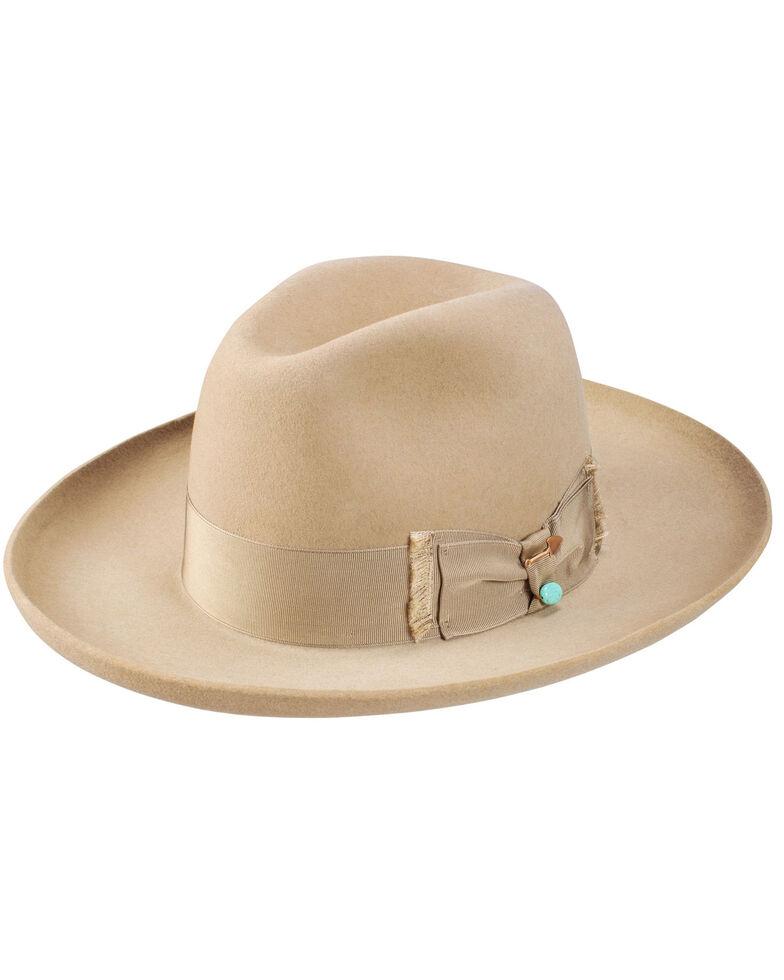 Stetson Eureka Stone Turquoise Wool Felt Western Hat , Grey, hi-res