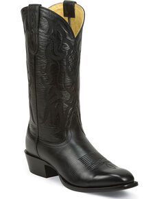 Nocona Men's Vargas Black Western Boots - Square Toe, Black, hi-res