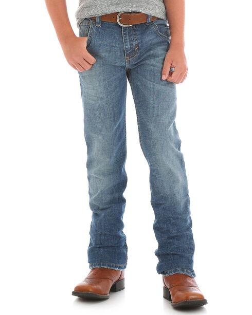 Wrangler Boys' (8-18) Indigo Retro Slim Straight Leg Jeans - Husky , , hi-res