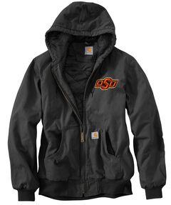 Carhartt Oklahoma State University Cowboys Sandstone Active Jacket, Black, hi-res