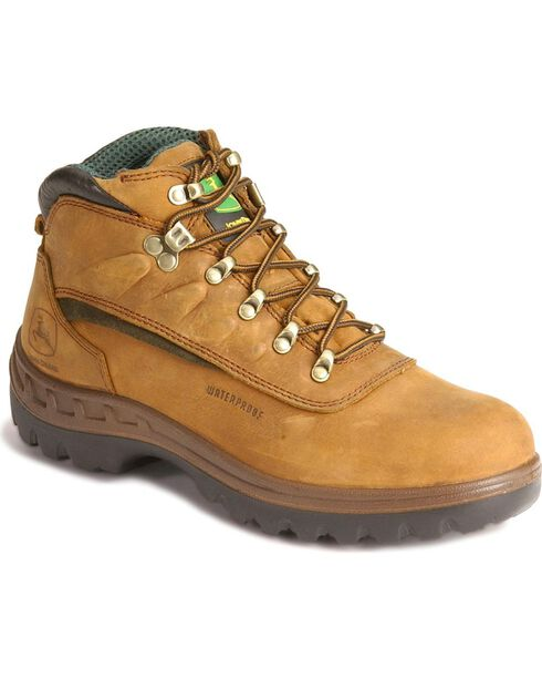 "John Deere 6"" WCT Waterproof Work Hiker Boots, Tan, hi-res"
