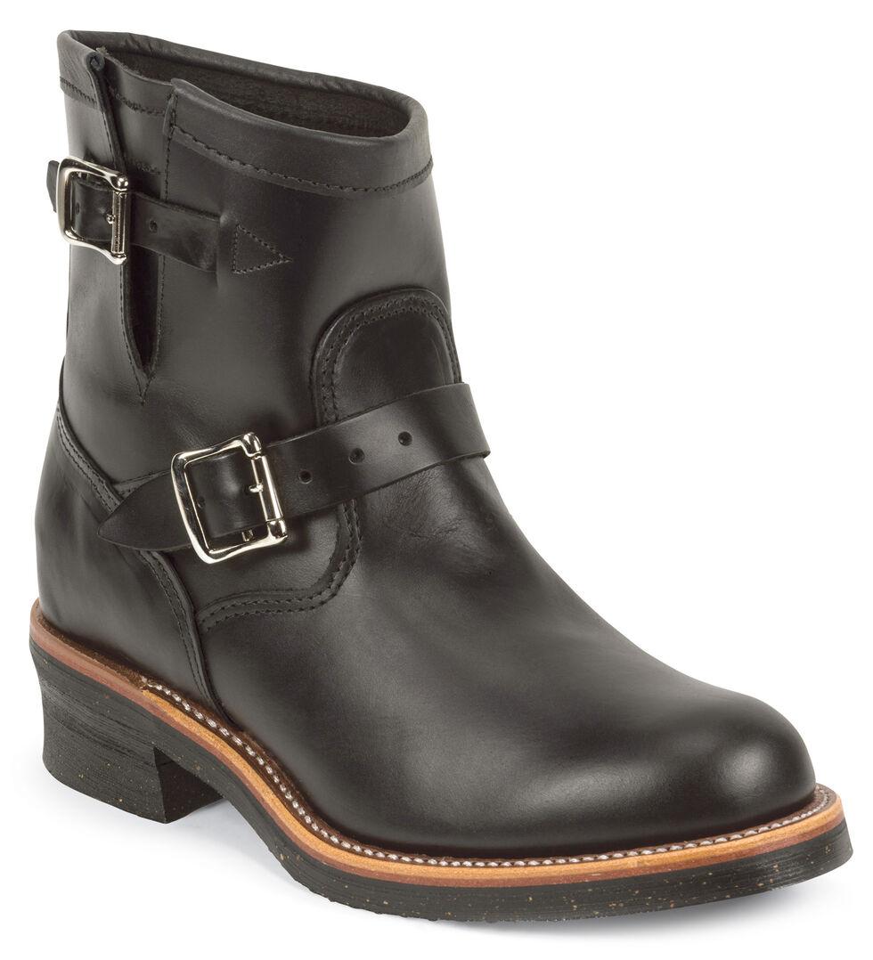 "Chippewa Men's Whirlwind Black 7"" Engineer Boots - Round Toe, Black, hi-res"