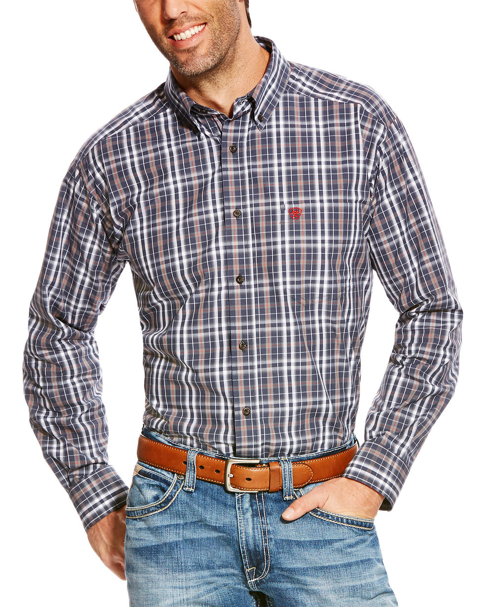 Ariat Men's Blue Pro Sereis Antioch Plaid Western Shirt , Blue, hi-res