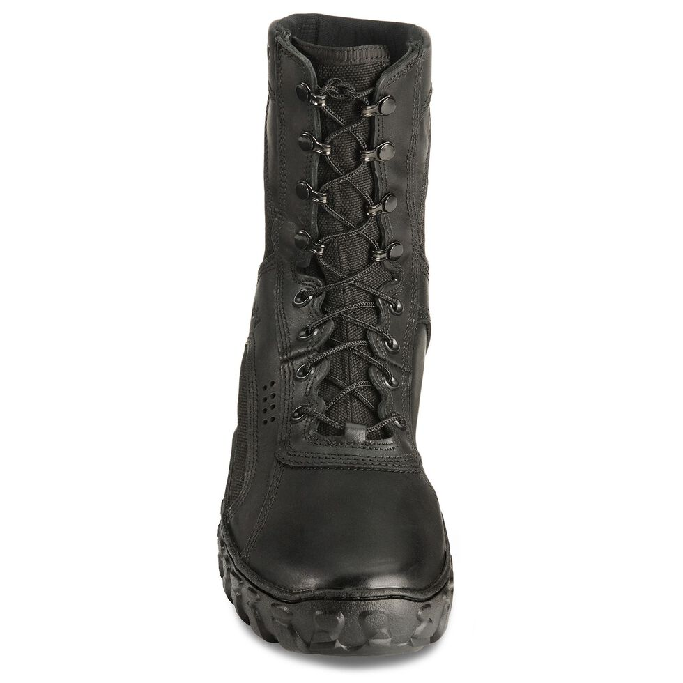 "Rocky S2V Vented 8"" Lace-Up Military Boots - Round Toe, Black, hi-res"