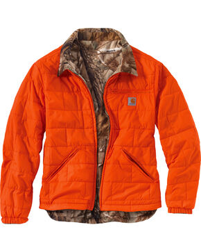 Carhartt Men's Reversible Woodsville Jacket - Big & Tall  , Orange, hi-res
