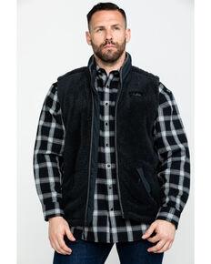 Powder River Outfitters Men's Micro Berber Full Zip Vest , Black, hi-res
