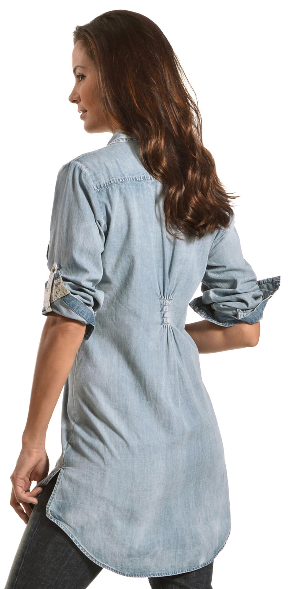 Tasha Polizzi Women's Settler Tunic, Denim, hi-res