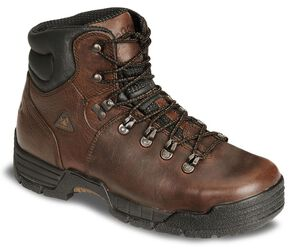"Rocky Men's 6"" Mobilite Waterproof Work Boots - Steel Toe, Brown, hi-res"