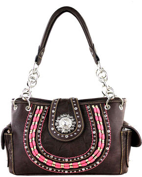 Montana West Women's Coffee Concealed Carry Handbag , Taupe, hi-res