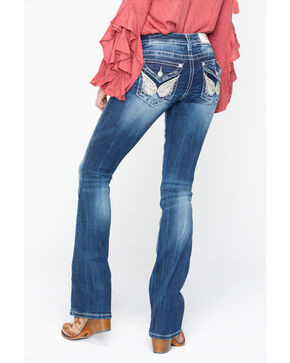 Miss Me Women's Gold Bling Jeans, Blue, hi-res