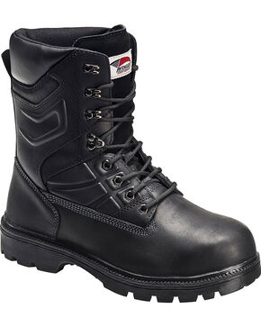Avenger Men's Internal MetGuard Work Boots - Steel Toe, Black, hi-res