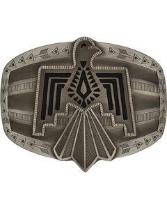 Rock 47 by Montana Silversmiths Tribal Flair Silver Phoenix Attitude Buckle, Antique Silver, hi-res