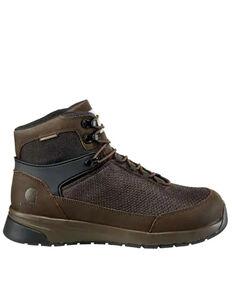 Carhartt Men's Force Waterproof Work Boots - Composite Toe, Dark Brown, hi-res