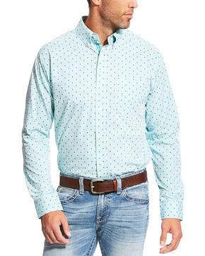 Ariat Men's Pro Series Slim Fit Maximillion Long Sleeve Button Down Shirt, Blue, hi-res