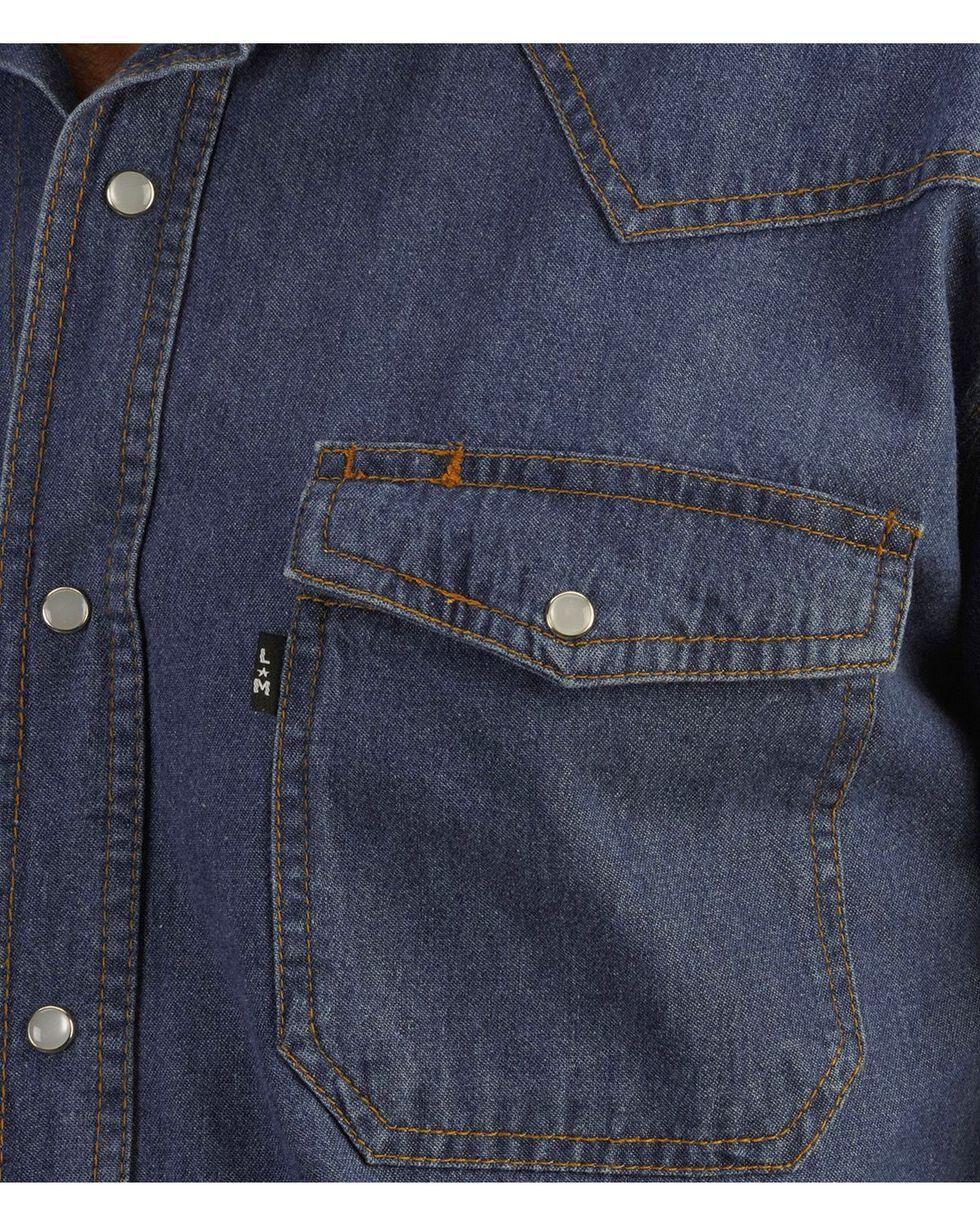 Key Western Denim Work Shirt, Denim, hi-res