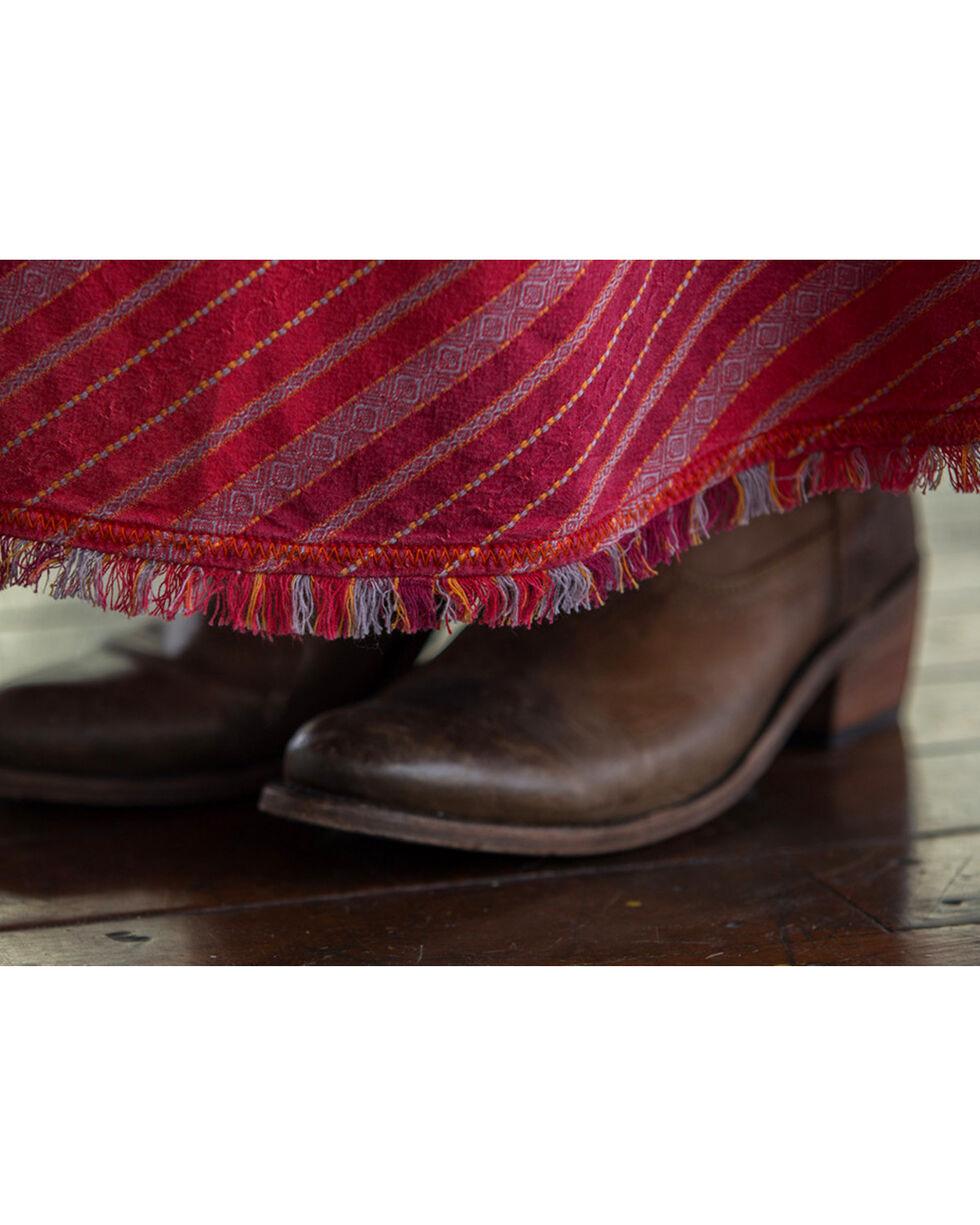 Ryan Michael Women's Taos Striped Skirt , Red, hi-res