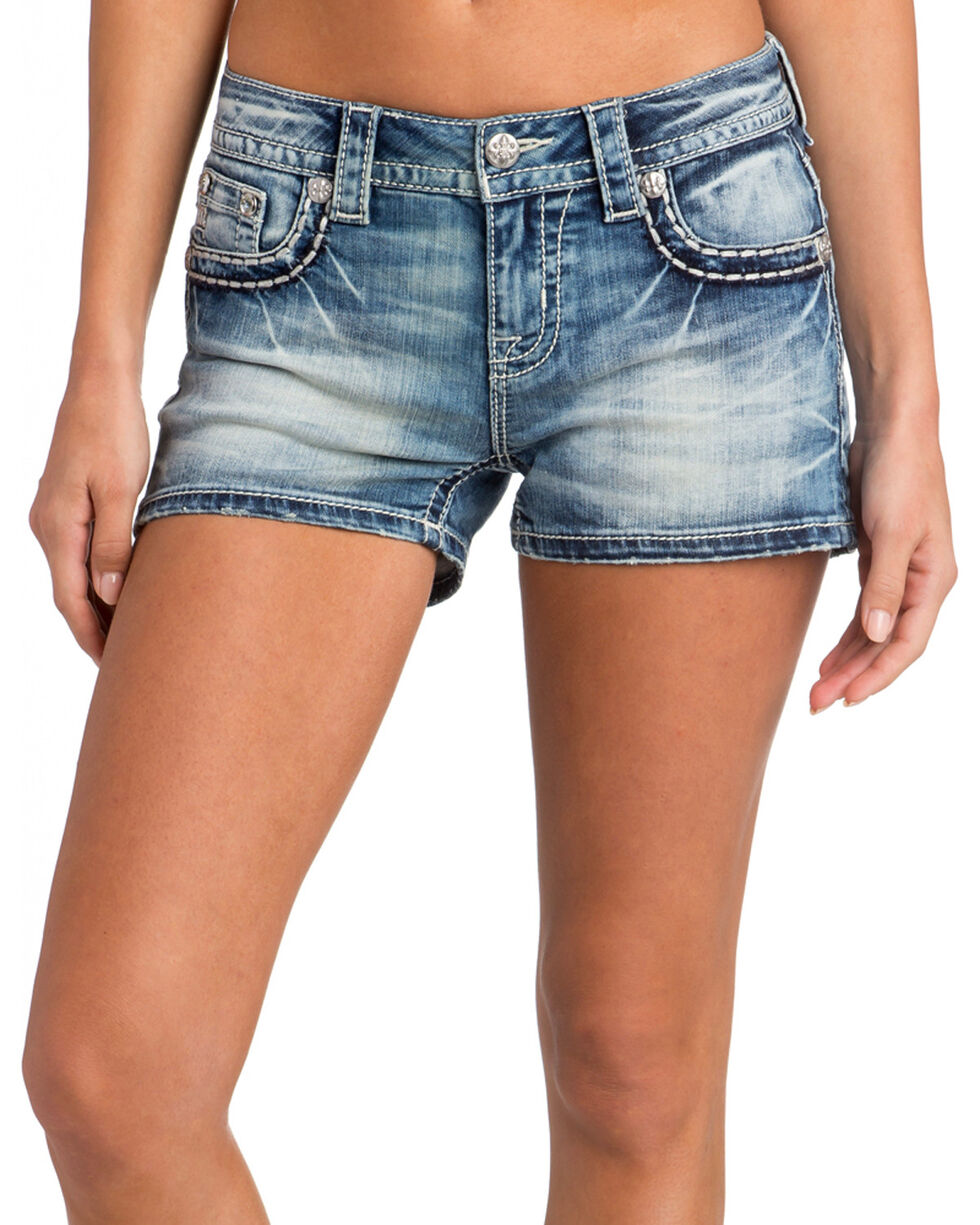 Miss Me Women's Garden Gathering Mid-Rise Shorts, , hi-res