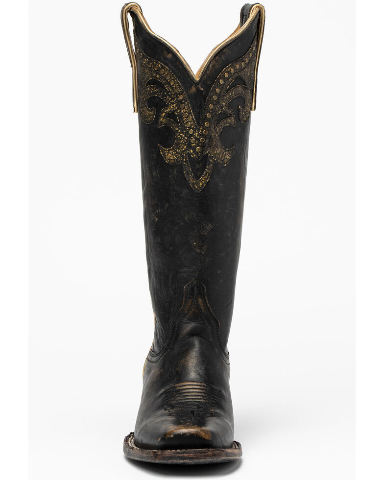 Idyllwind Women's Tough Cookie Western Boots - Narrow Square Toe, Black/tan, hi-res