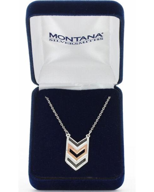 Montana Silversmiths Women's Chevron Strength Necklace, No Color, hi-res