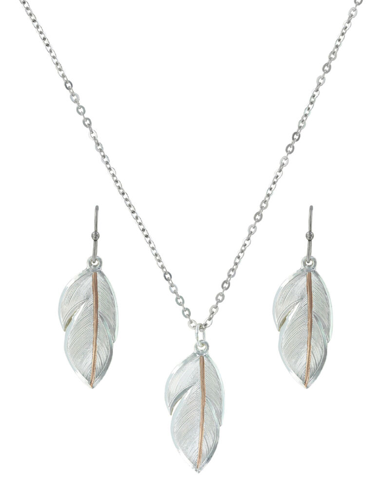 Montana Silversmiths Downy Feather Jewelry Set *DISCONTINUED*, Multi, hi-res