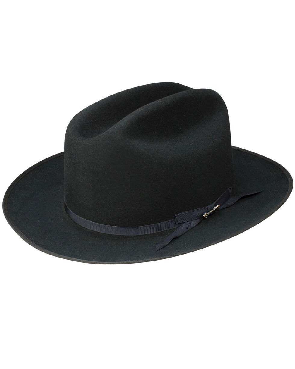 Stetson Men's Black Open Road Royal Deluxe Hat, Black, hi-res