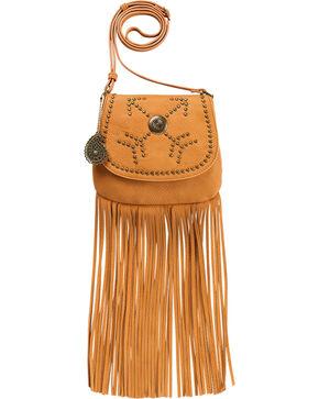 Bandana by American West Austin Tan Fringe Flap Wallet Bag , Tan, hi-res