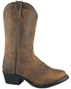 Smoky Mountain Boys' Denver Western Boots - Round Toe, Brown, hi-res
