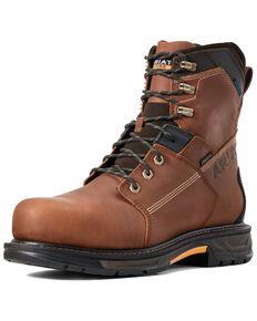 Ariat Men's Waterproof Workhog Work Boots - Carbon Toe, Brown, hi-res