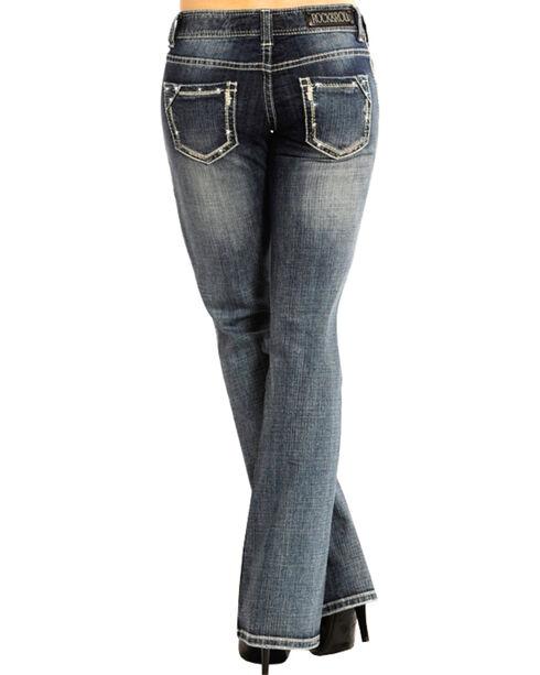Rock & Roll Cowgirl Women's Indigo Low-Rise Jeans - Boot Cut , Indigo, hi-res