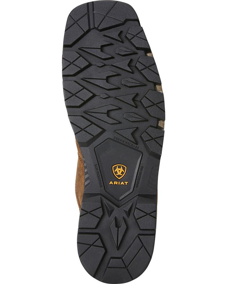 Ariat Men's Rebar Flex H2O Brown/Green Western Work Boots - Composite Toe, Chocolate, hi-res