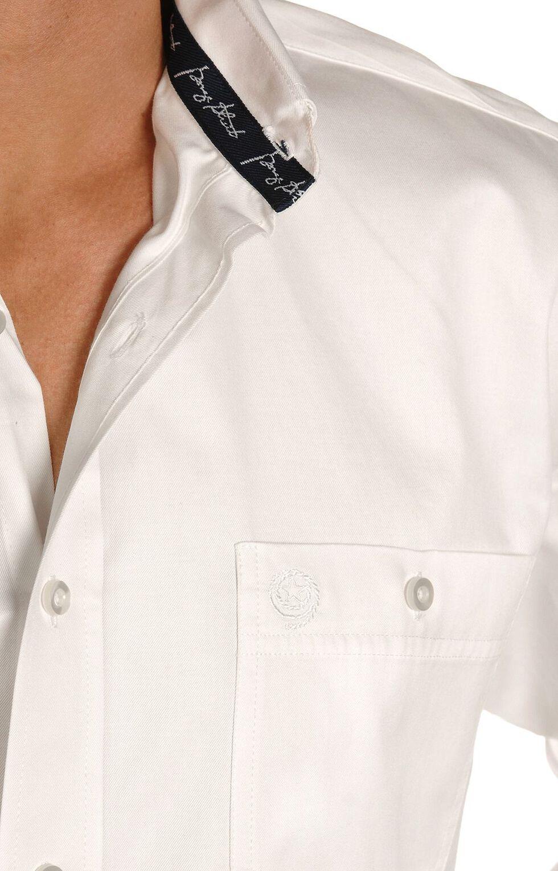 George Strait by Wrangler Men's Solid Long Sleeve Western Shirt, White, hi-res