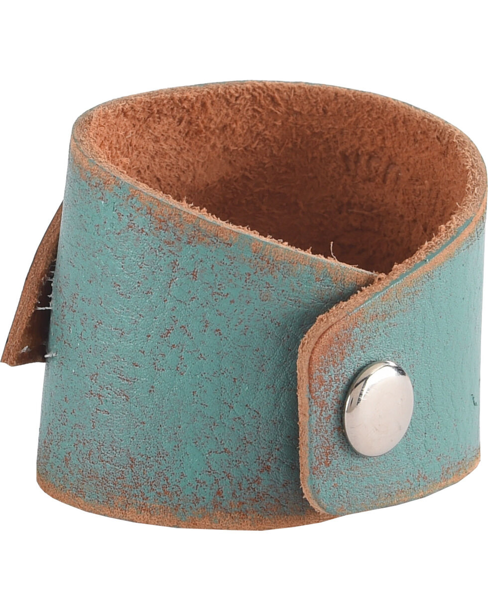 AndWest Women's Turquoise Confetti Feather Cuff Bracelet , Turquoise, hi-res