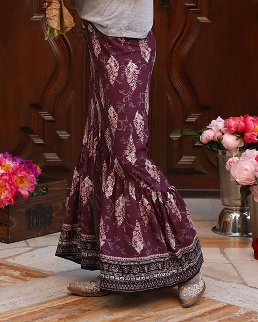 Ivory Love Women's Purple Floral Maxi Skirt , Purple, hi-res