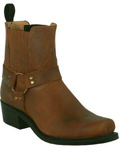 Boulet Motorcycle Boots - Square Toe, Golden Tan, hi-res