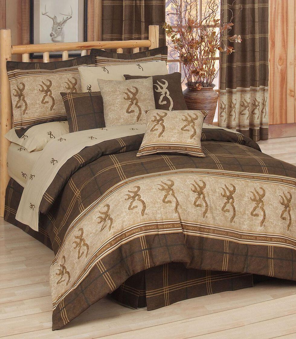 Browning Buckmark King Comforter Set, Brown, hi-res