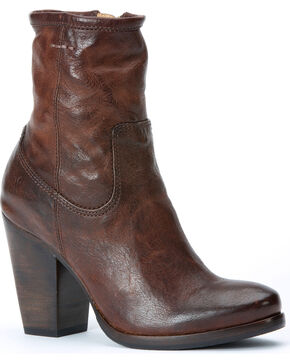 Frye Paulina Artisan Zip Boots, Dark Brown, hi-res