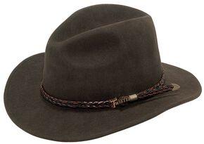 Twister Omaha Crushable Felt Hat, Brown, hi-res