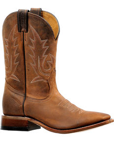 Boulet Men's Challenger Stockman Boots - Square Toe, Brown, hi-res
